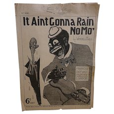 It Ain't Gonna Rain No Mo' - Song Sheet Wendell Hall