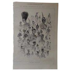 Female Fashions At Cape Coast Castle - 1874, Illustrated London News.