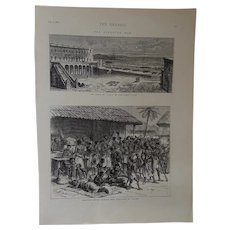 Ashantees Buying Muskets With Gold Dust At Assinee - The Graphic August 9th 1873