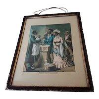19th Century Black Americana Chromolithograph Prints: Stationers Hall