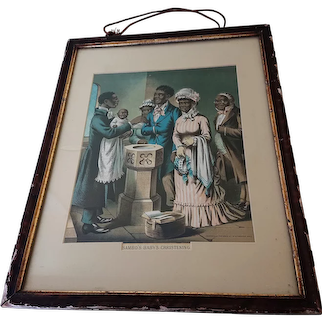 19th Century Black Americana Chromolithograph Prints: Stationers Hall