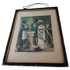 'The Christening' - 19th Century Black Americana Chromolithograph print.