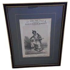 Walter Howard: Moore & Burgess Minstrels Framed print c1870/1885