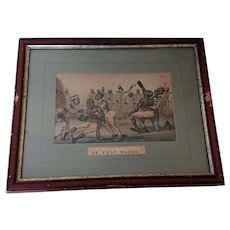 De Fust Blood : 1883 Hand colored lithograph, artist Worth