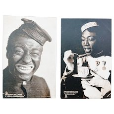 Vintage Stage Postcards -Black Americana