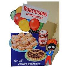 Robertson Mincemeat Advertising Board - Golliwog
