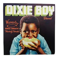 Crates Label Dixie Boy Brand.  1930's Waverly Growers