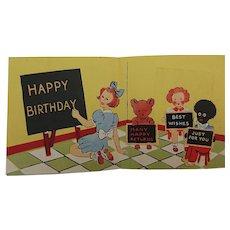 Golly Birthday Card