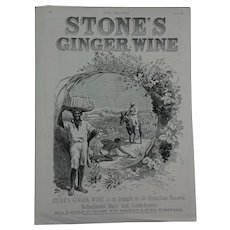 Advert 1892 -  Stones Ginger Wine/Tobacco /Carriages /Watches