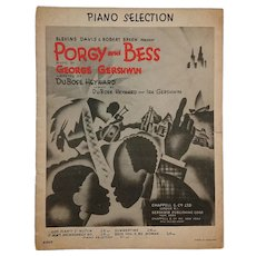 Vintage Art Print Piano Selection  - George Gershwin Porgy & Bess (19 pages