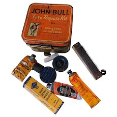 Vintage John Bull Compact Tyre Repair Kits for Cars and Motorcycles