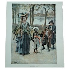 My Lady's Protector - Chromolithograph Gordon Browne 1896
