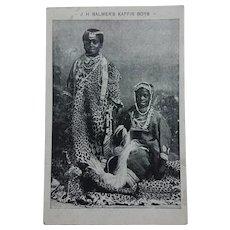 Edwardian Circus Postcard - J. H. Balmer Kaffir Boys. Black Americana