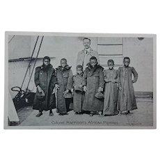 Human Zoo Postcard -Colonel Harrison's African Pygmies.