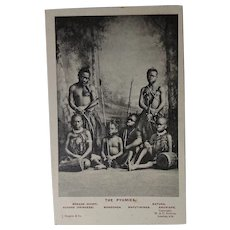 Human Zoo Postcard -'Colonel Harrison's African Pygmies'. (1907).
