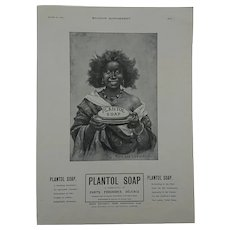 Lever Brothers Soap Advertising c.1905 Black Young Lady.