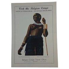 Vintage Tourism Advert - Belgium Congo c.1951