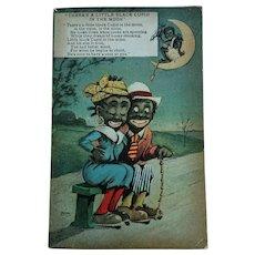 Little Black Cupid - Rare Vintage British Postcard (1917)