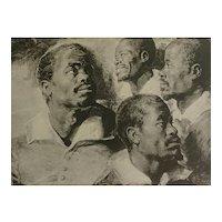 Four Studies of the Head of a Negro - Reubens 1936 Rotogravure