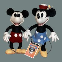 """R John Wright 13"""" Mickey and Minnie mouse MIB #6 of 500"""