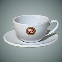 R John Wright Cafe Ceramic cup and saucer