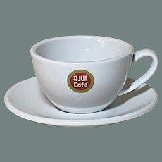 R John Wright Cafe Ceramic cup and saucer