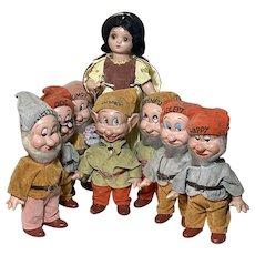 Knickerbocker Snow White seven Dwarfs 1930s
