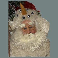 Deborah Henderson drolleries Santa snowman