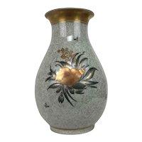 Vintage Royal Copenhagen Chinese Crackled Shell Hand Painted Porcelain Vase