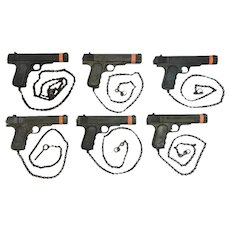 McGLASHAN Nickel Coin Shooting Pistol Toy Amusement Park Arcade Gun Lot of 6