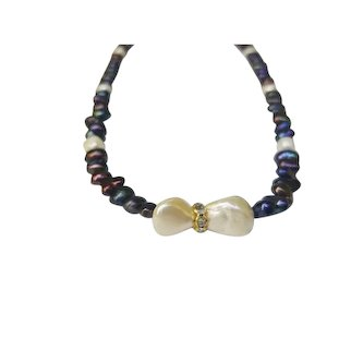 One-of-a-Kind Hand Strung Freshwater Cultured Pearl Beaded Necklace