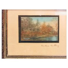 Wallace Nutting Miniature (Birches and Blue Lake)