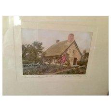 Wallace Nutting Framed Print (Grandmother's Garden)