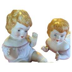 Twin girl piano Babies - set (girls)