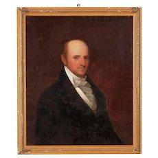 19th Century Gentleman Portrait Oil Painting