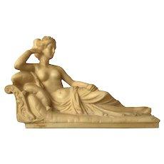 1960s After Pauline Bonaparte as Venus Victrix by Antonio Canova Grand Tour Statuette