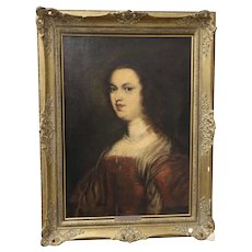 """Late 19th Century """"Prinzessin"""" After Franz Seraph Von Lenbach Oil Painting"""