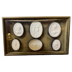 1810 Grand Tour Jewelry Box With Neoclassical Plaster Cameos