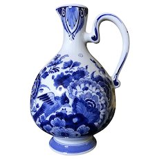 Early 20th Century Delft Hand Painted Pottery Jug