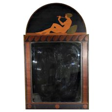 Antique Art Deco Marquetry Mirror