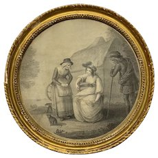 18th Century Francesco Bartolozzi John Hodges Framed Engraving Print