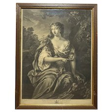 18th Century Marchioness of Wharton Mezzotint Engraving Print