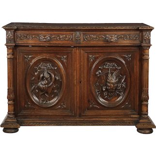 19th Century Continental Baroque Style Cupboard