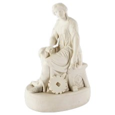 19th Century Parian Figure of a Seated Woman
