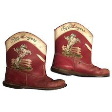 RARE Vintage Roy Rogers Child Sized Cowboy Boots Western