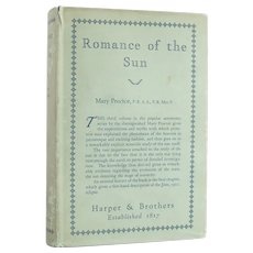 Romance of the Sun - vintage astronomy reference and history from 1927 - Free US Shipping