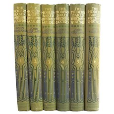 The Modern Baker, Confectioner and Caterer - antique six volume set from 1907 - Free US Shipping