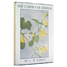 The Garden of Gourds - illustrated first edition reference of the humble gourd from 1937 - Free US Shipping