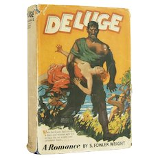 Deluge: A Romance - vintage science fiction title with original jacket from 1928 - Free US Shipping