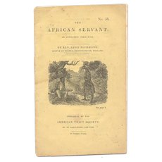 The African Servant: An Authentic Narrative - antiquarian pamphlet from the 1850s - Free US Shipping